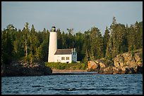 Rocks and Rock Harbor Lighthouse. Isle Royale National Park ( color)