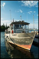 Voyageur II ferry moored at Rock Harbor. Isle Royale National Park ( color)