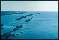 Aerial view of outer island archipelago. Isle Royale National Park ( color)