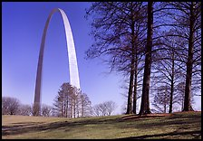 Trees and Arch. Gateway Arch National Park ( color)