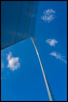 Arch from base with clouds and blue skies. Gateway Arch National Park ( color)