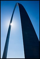 Gateway Arch with sunstar. Gateway Arch National Park ( color)