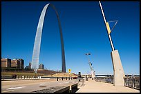 Renovated waterfront and Arch. Gateway Arch National Park ( color)