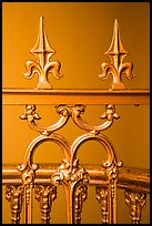 Metalwork with fleur-de-lis, Old Courthouse. Gateway Arch National Park ( color)