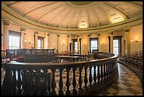 Circuit court 4 with balustrade, Old Courthouse. Gateway Arch National Park ( color)