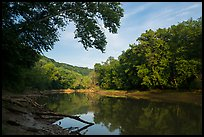 Green River in the morning, Houchin Ferry. Mammoth Cave National Park ( color)