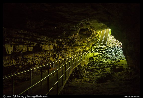 Cave historic entrance from inside. Mammoth Cave National Park (color)