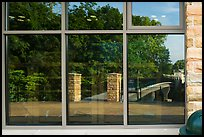Window Reflexion Visitor Center. Mammoth Cave National Park ( color)