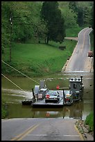 Green River ferry crossing. Mammoth Cave National Park, Kentucky, USA.