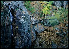 Waterfall and cliff from above. Shenandoah National Park ( color)