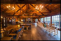 Inside Big Meadows Lodge. Shenandoah National Park ( color)