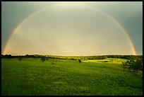 Full rainbow above Big Meadows. Shenandoah National Park ( color)