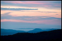 Ridges and sky at sunset from The Point Overlook. Shenandoah National Park ( color)