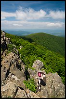 Nap on Hawksbill Mountain. Shenandoah National Park ( color)