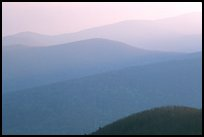 Hazy ridges, sunrise. Shenandoah National Park, Virginia, USA. (color)