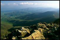 Panorama from Little Stony Man, early morning. Shenandoah National Park ( color)