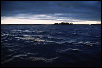 Choppy Kabetogama waters during a storm. Voyageurs National Park, Minnesota, USA. (color)