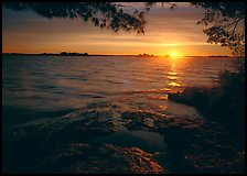 Sun rising on Kabetogama lake. Voyageurs National Park ( color)