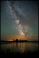 Islet and Milky Way, Sand Point Lake. Voyageurs National Park ( color)