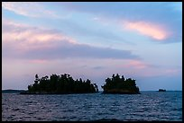 Islets at sunset, Rainy Lake. Voyageurs National Park ( color)