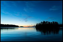 Anderson Bay at dawn. Voyageurs National Park ( color)