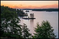 Islets and Anderson Bay, sunrise. Voyageurs National Park ( color)