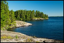 Windmill Rock Cove and Rainy Lake. Voyageurs National Park ( color)