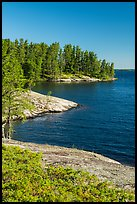 Windmill Rock Cove, Rainy Lake. Voyageurs National Park ( color)