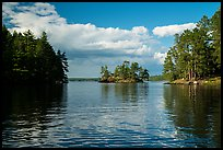 Islet and reflections, Sand Point Lake. Voyageurs National Park ( color)