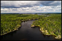 Aerial view of American Channel, Rainy Lake. Voyageurs National Park ( color)