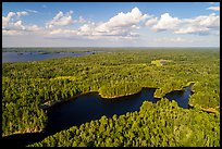 Aerial view of Namakan Narrows and Sand Point Lake. Voyageurs National Park ( color)