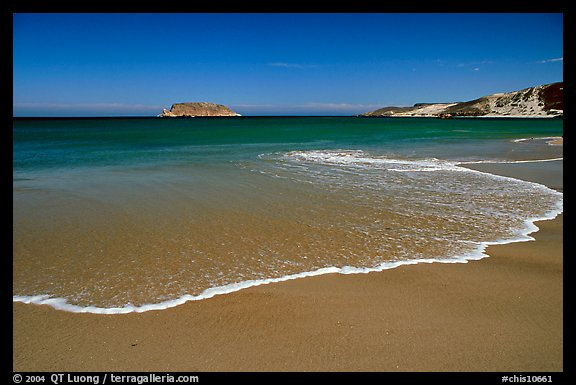 Beach, Cuyler Harbor, mid-day, San Miguel Island. Channel Islands National Park (color)