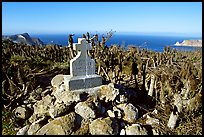 Monument commemorating Juan Rodriguez Cabrillo's landing on  island in 1542, San Miguel Island. Channel Islands National Park ( color)