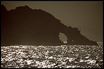 Sea arch, Santa Cruz Island. Channel Islands National Park, California, USA.