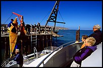 Loading  Island Packers boat, Santa Rosa Island. Channel Islands National Park ( color)