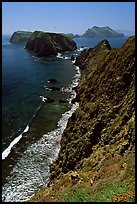 Cliffs near Inspiration Point, East Anacapa Island. Channel Islands National Park, California, USA.