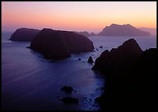 Sunset over island chain, Anacapa Island. Channel Islands National Park ( color)