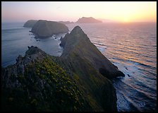 Inspiration point, sunset, Anacapa Island. Channel Islands National Park ( color)