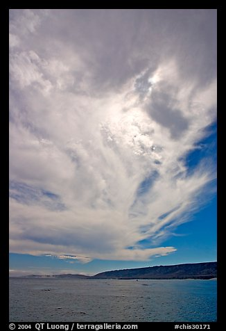 Clouds and Santa Rosa Island. Channel Islands National Park (color)