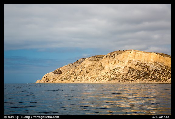 Yellow cliffs, Santa Cruz Island. Channel Islands National Park (color)