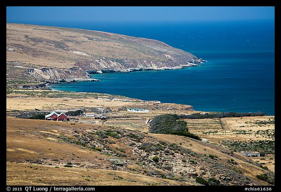Vail and Vickers Ranch and Bechers Bay, Santa Rosa Island. Channel Islands National Park (color)