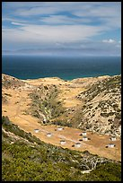 Water Canyon campground from above, Santa Rosa Island. Channel Islands National Park ( color)