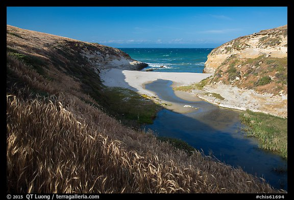 Mouth of Lobo Canyon, Santa Rosa Island. Channel Islands National Park (color)