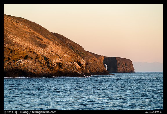 Arch Point at sunrise, Santa Barbara Island. Channel Islands National Park (color)