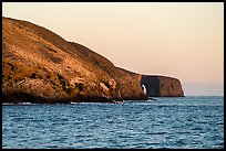Arch Point at sunrise, Santa Barbara Island. Channel Islands National Park ( color)