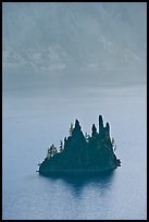 Phantom ship and cliffs. Crater Lake National Park ( color)