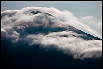 Clouds formed by high winds over Mt Scott. Crater Lake National Park ( color)