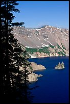 Phantom ship and Garfield Peak. Crater Lake National Park ( color)