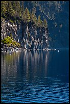 Cliffs, shadows, and reflections, Cleetwood Cove. Crater Lake National Park ( color)