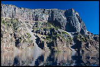 Tall cliffs of Llao Rock and Llao Bay. Crater Lake National Park ( color)
